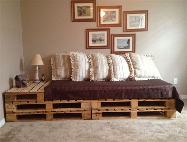 21 diy pallet sofa plan and ideas - Day Bed Frames