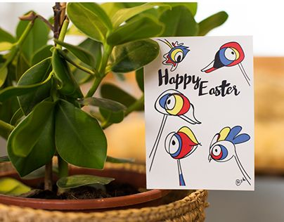 "Check out new work on my @Behance portfolio: ""Easter Cards"" http://be.net/gallery/35399887/Easter-Cards"