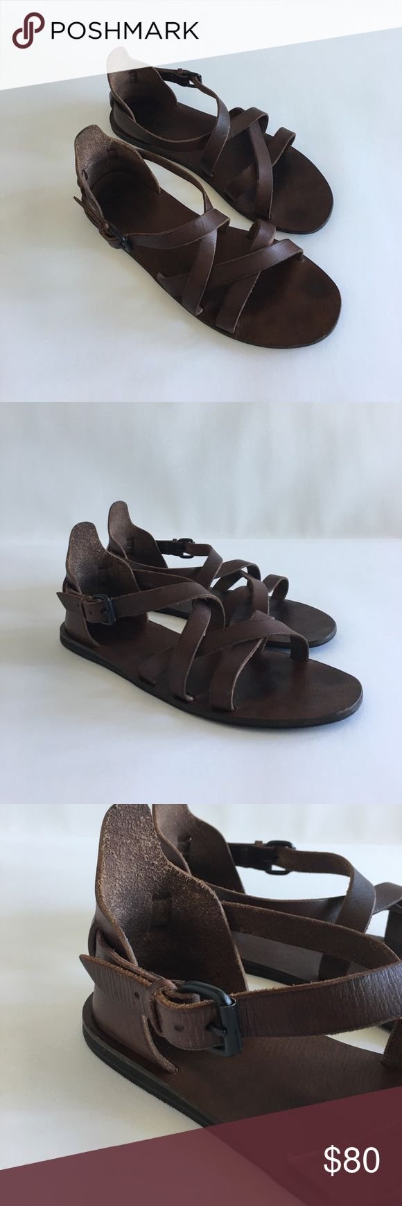 All Saints Men's brown Leather Shaw Sandal size 11 All Saints Men's brown Leather Shaw Sandal size 11 - good condition. Worn and have some signs of some wear. In box. Good condition. Leather is great conditions. All Saints Shoes Sandals & Flip-Flops