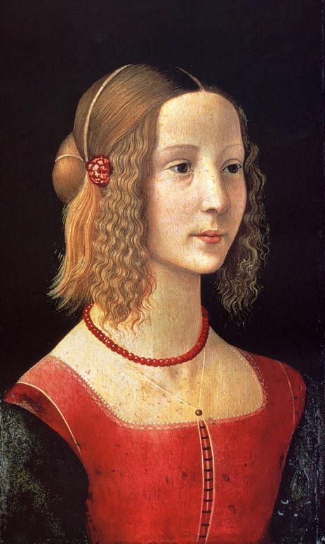 Domenico Ghirlandaio, Portrait of a girl, 1490