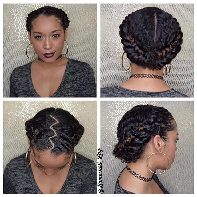 Simple Braided Hairstyles For Medium Natural Hair : Best ideas about protective styles on