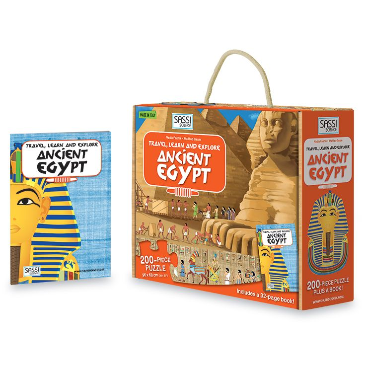 #Sassi Science: Travel, learn and explore - The Egypt. A 200-pieces puzzle with a 32-pages book. #eco #friendly #book #game