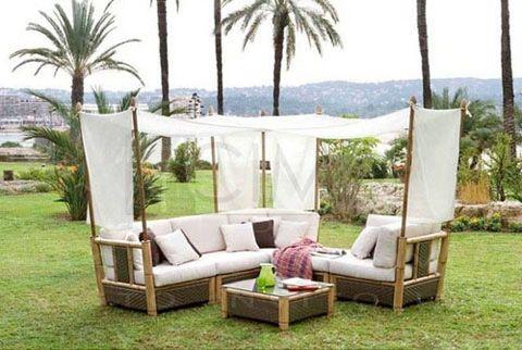 Mueble tipo sill n para playa hotel pinterest - Sillones para recibidor ...