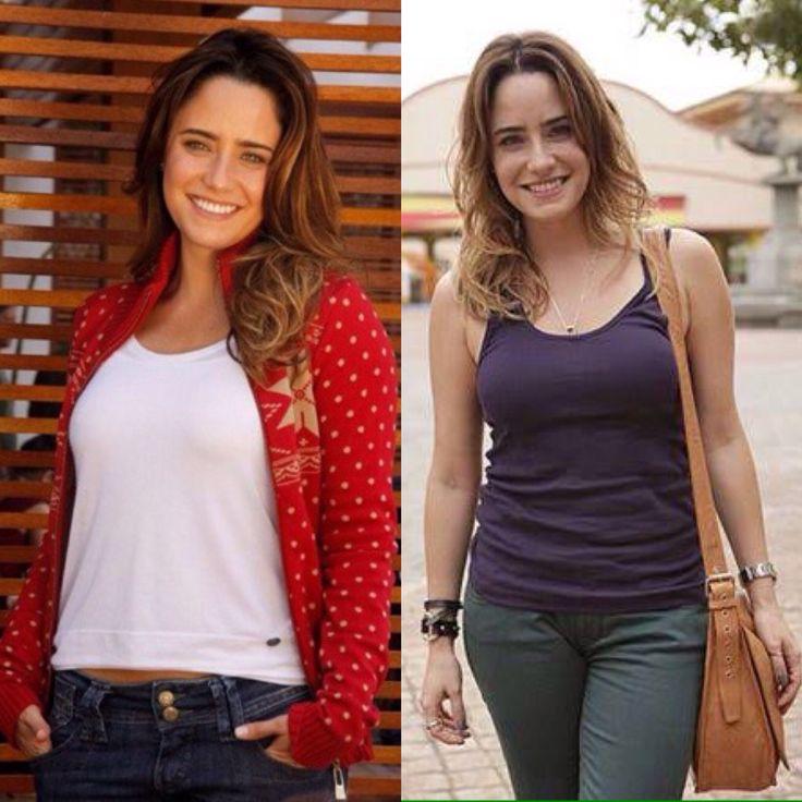 Diferentes personagens de Fernanda Vasconcellos... Ana de 'A Vida Da Gente' e Malu (Maria Luísa) de 'Sangue Bom'