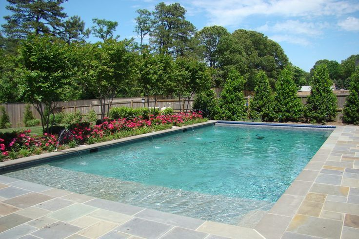 tanning ledge swimming pool swimming pools garden and yards. Black Bedroom Furniture Sets. Home Design Ideas