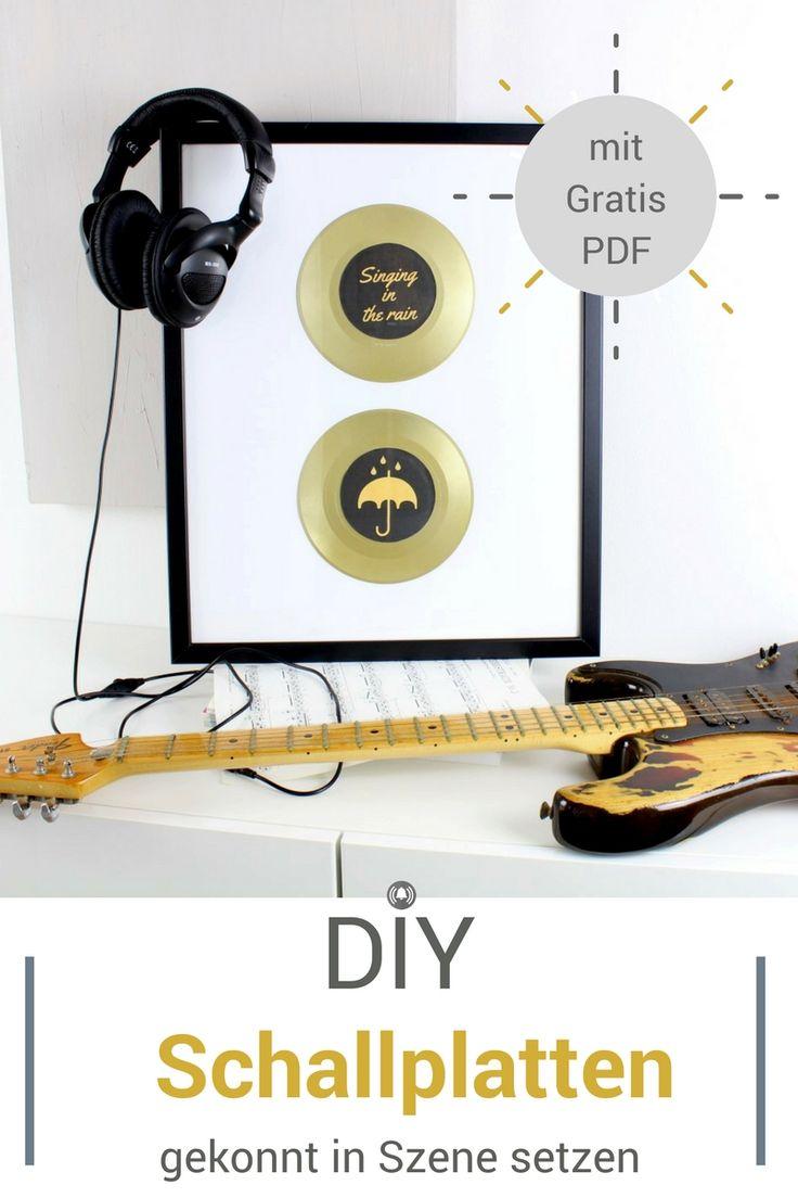 Aus alten Schallplatten kann man so tolle Sachen machen..... Diese sensationellen Bilder sind im Handumdrehen gemacht und eignen sich nicht nur für die eigenen Wände. Auch als Geschenk kommen sie toll an. Mit Gold- oder Silberspray haben sie einen glänzenden Auftritt. Wir haben dir das PDF verlinkt, damit du die Label machen kannst - natürlich kostenlos!