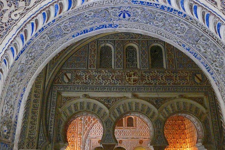 Arcos de herradura en el Salón de Embajadores. Alcázar de Sevilla