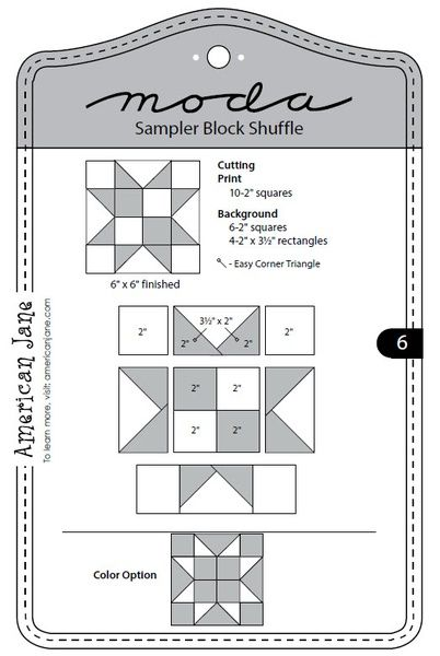Moda Sampler Block Shuffle - Block 6
