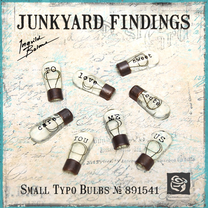 Junkyard Findings by Ingvild Bolme - Prima Small Typo Bulbs Industrial Embellishments