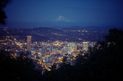 Portland is so pretty at night.