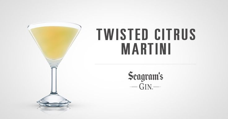 ... Gin Twisted Citrus Martini– it's a twist on a classic drink