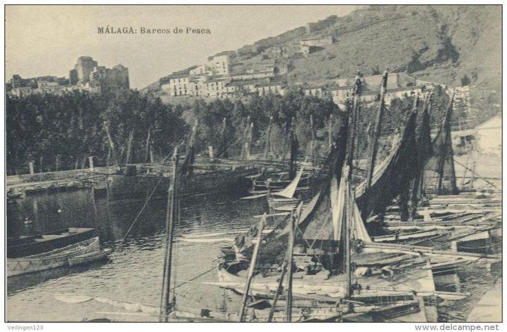 malaga, barcos de pesca