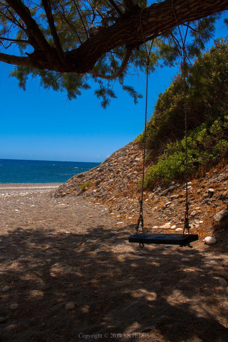Seaside Swing by Pantelis Sfirakis on 500px  #AgiaFotia #AgiaFotiaSeaside #Ierapetra #Crete #Beach #Sea #Swing #IncredibleCrete #Relaxing