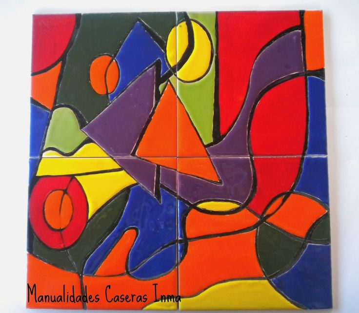 Manualidades caseras faciles mural de cuerda seca abstracto