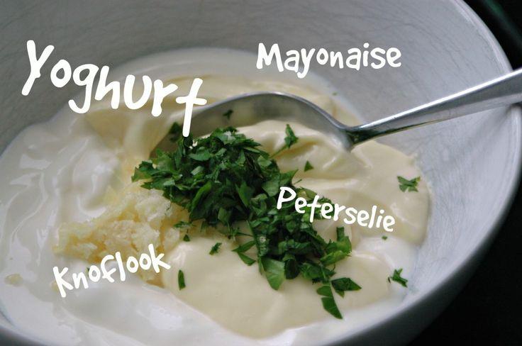 knoflooksaus met yoghurt
