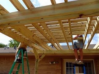 Above back deck