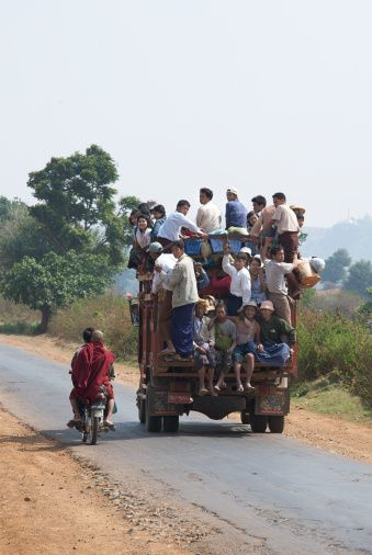 Rural transport in Burma. Between Kalaw & Pindaya