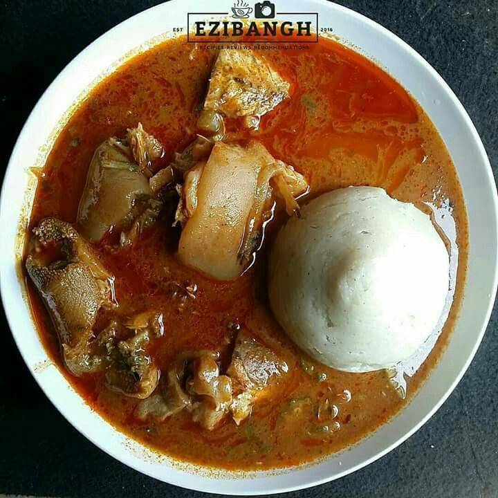 Banku with palmnut soup chicken and fish ghanaian dishes for Authentic african cuisine from ghana