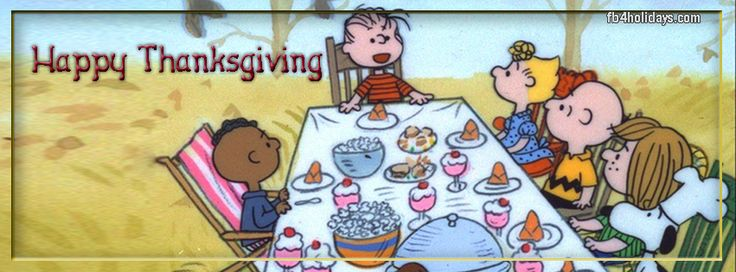 Charlie Brown Peanuts Thanksgiving Timeline covers Snoppy FB Banners and Woodstock Cover Photos