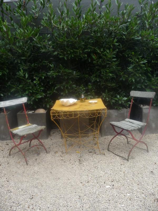 Two person garden table