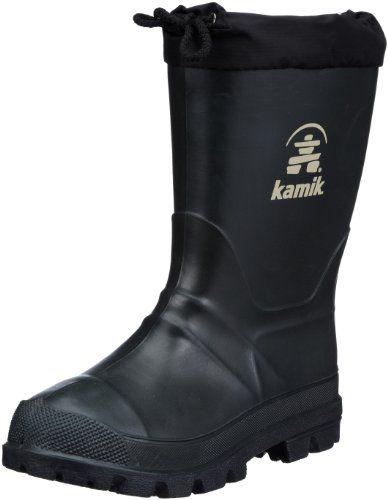 Kamik Hunter B24112, Unisex - Kinder Stiefel, Grün (khk), EU 35 (US 3) - http://on-line-kaufen.de/kamik/35-eu-kamik-hunter-b20112-herren-gummistiefel