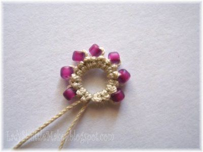 tatting with beads! TUTORIAL