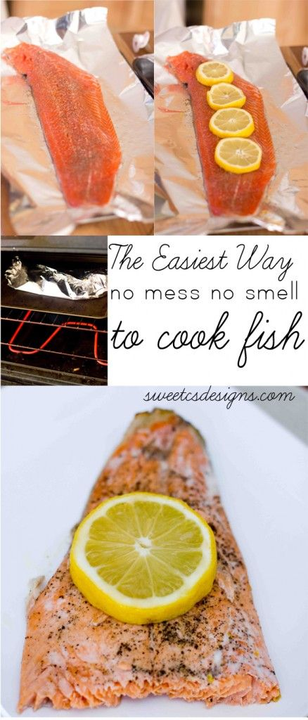 the easiest way to cook fish- this is totally life changing! No fishy smell, no mess, just toss and bake! Pin now, use later!