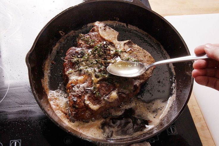 Butter-Basted Pan-Seared Thick-Cut Steaks: Ingredients ― 1½ inches ...