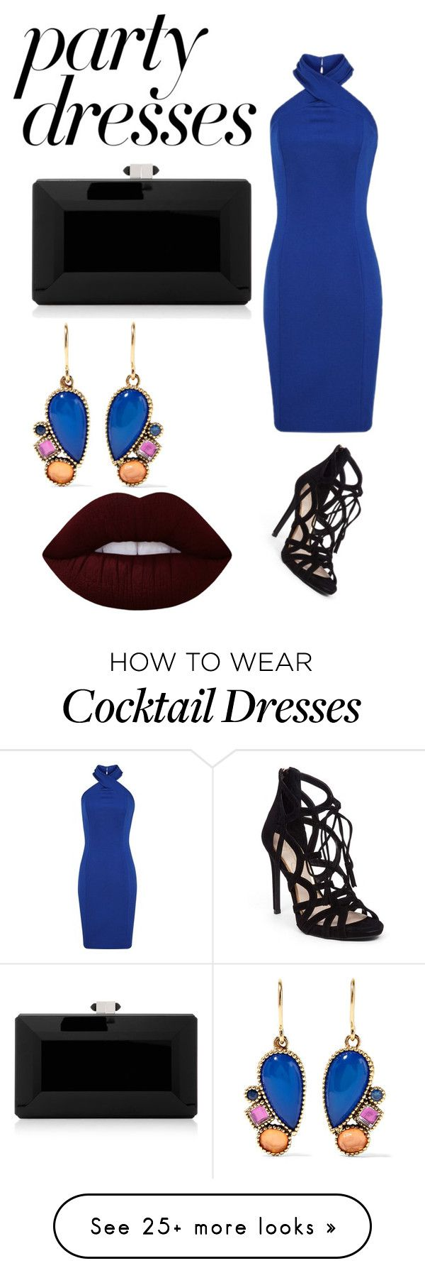 """#PolyPresents: Party Dresses"" by indiaquick923 on Polyvore featuring Judith Leiber, Larkspur & Hawk, Lime Crime, Jessica Simpson, contestentry and polyPresents"