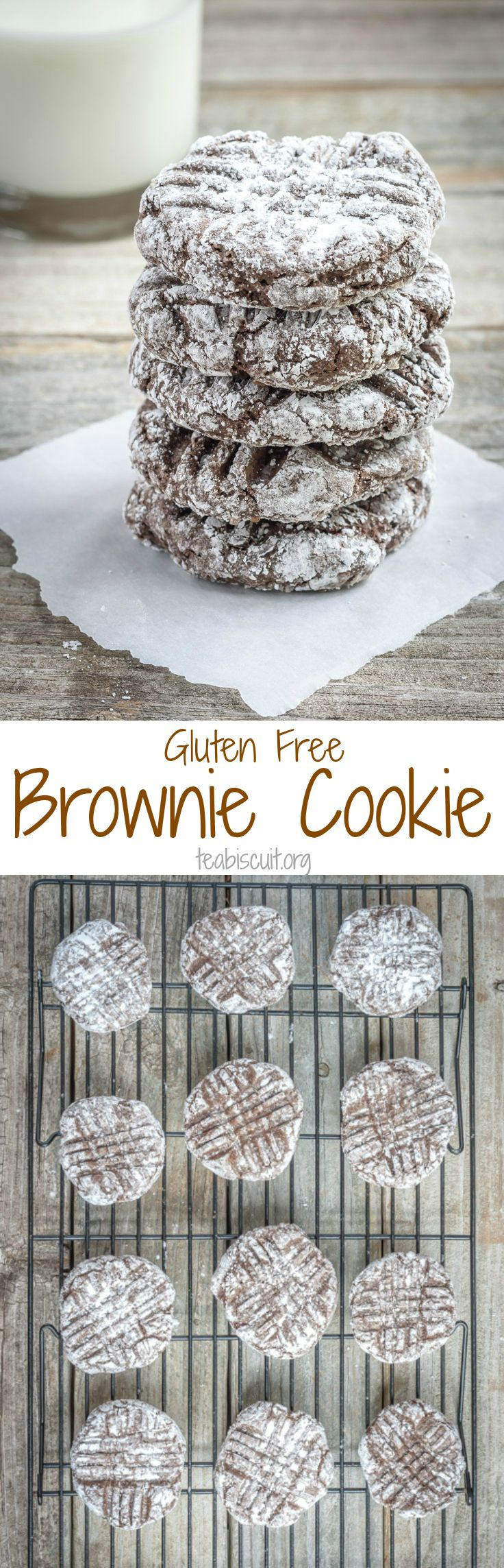 Mixed in one bowl, gluten free brownie cookies that taste like the real deal! I just made these and they're pretty yummy.