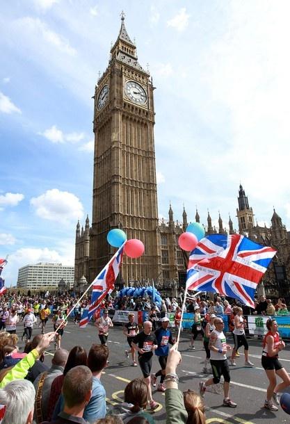 On my bucket list: Run the London Marathon.