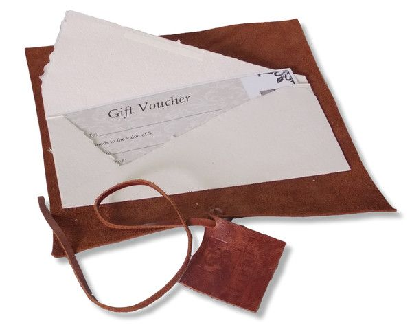 SB Libris Gift Voucher. Beautifully presented in wax sealed envelope and leather wrap. #mysblibris