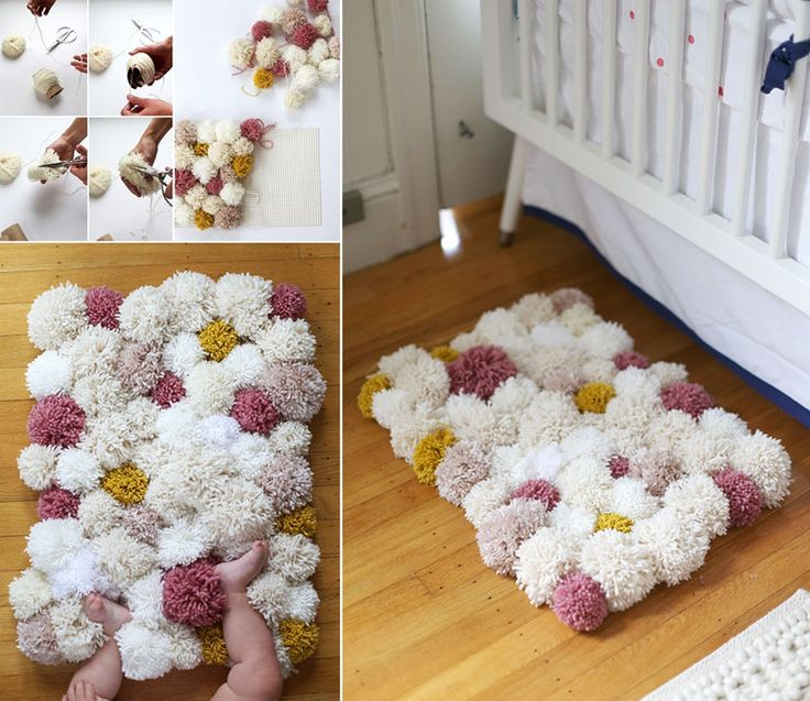 Colorful DIY Pom-Pom Rug and Another Creative Projects | http://www.designrulz.com/design/2015/01/colorful-diy-pom-pom-rug-another-creative-projects/