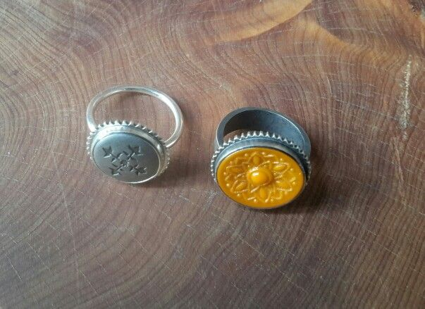 2 new button rings