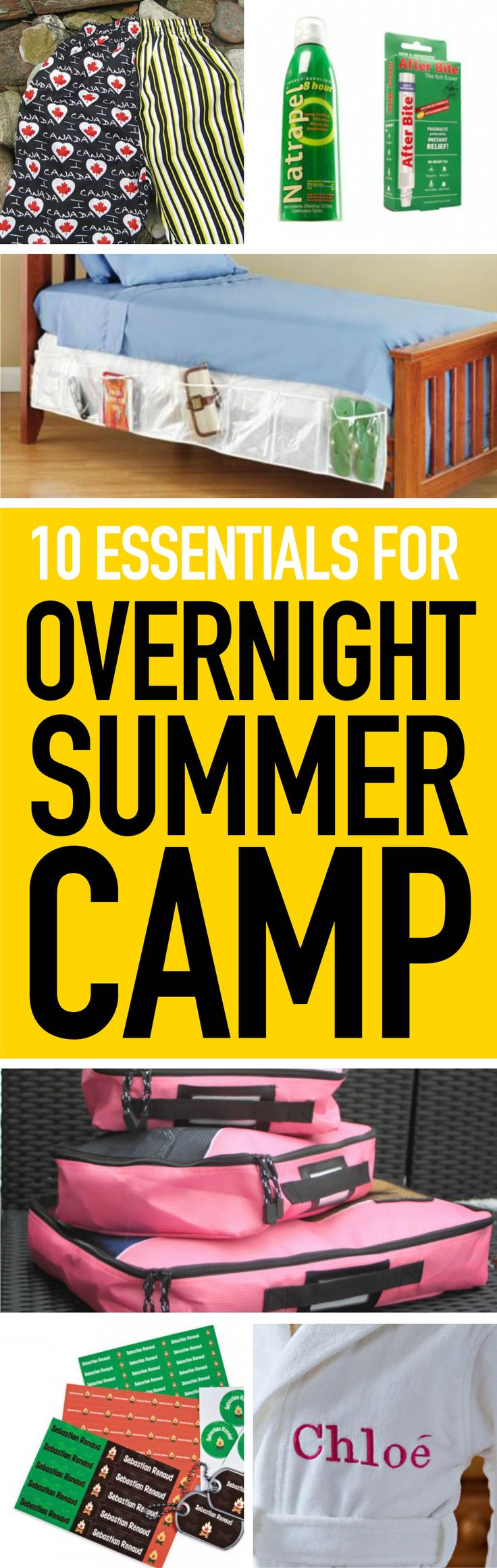 If your kid is heading to overnight camp, don't forget to pack these so they have an extra-fun (and bug bite-free) experience!