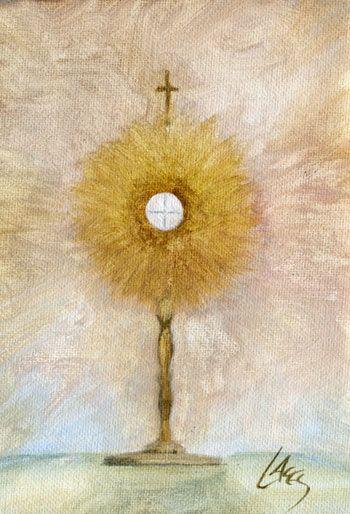 Communion Host Monstrance | Catholic religious art