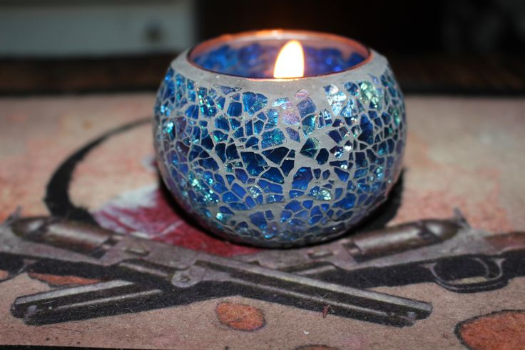 Small Mosaic Candle