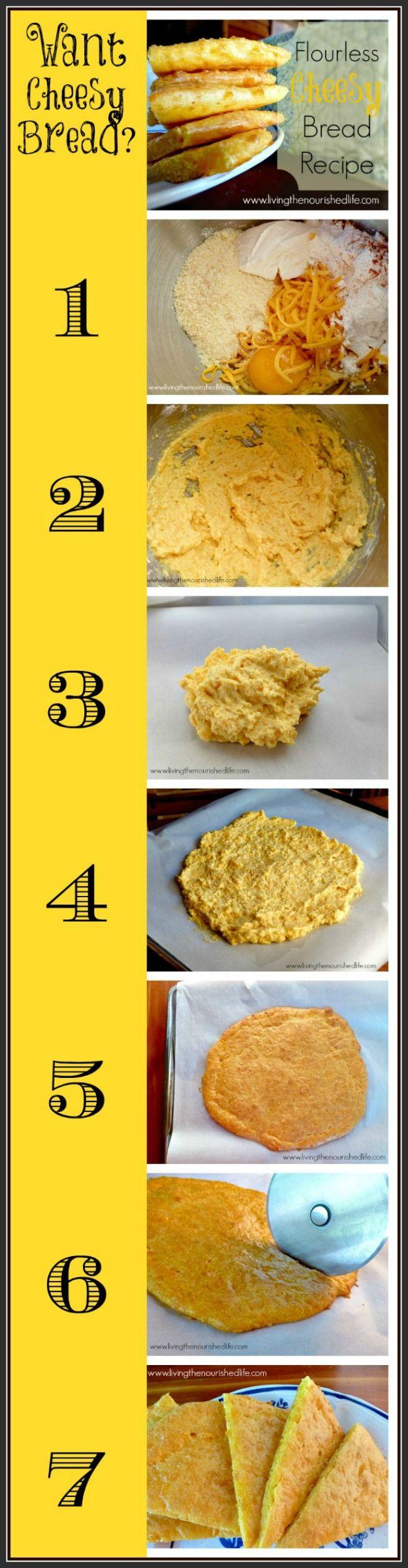 Flourless Cheesy Bread Recipe Steps