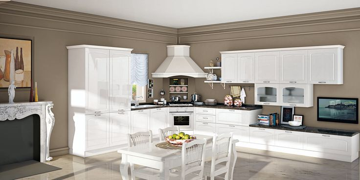 Linear fitted kitchen with handles ELIN by CREO Kitchens by Lube