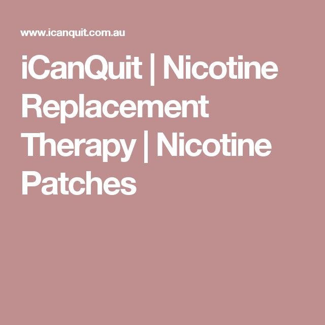 iCanQuit | Nicotine Replacement Therapy | Nicotine Patches