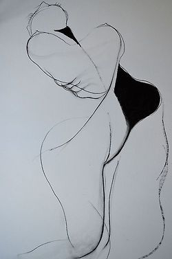 Drawing by Carmel Jenkin, Uncontained, charcoal on paper, 81cm x 57cm   Attempted this drawing from a different standpoint.