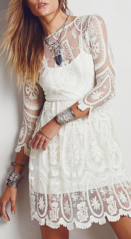 "wantedstyle: "" Boho Lace Dress 