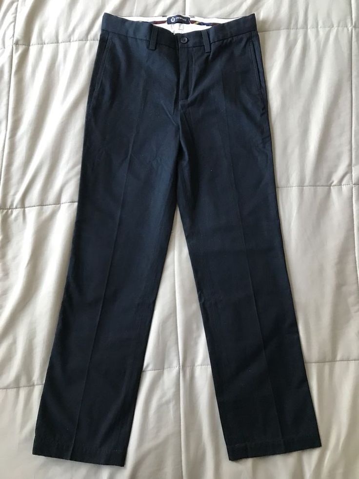 Crewcuts Boys' Navy Blue Suit Pant In Italian Chino Size 12 Style 92033 - J.Crew #Crewcuts #DressPants