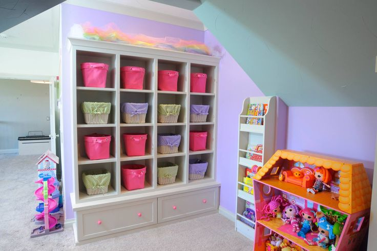 Play room with toy storage