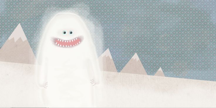 Snow monster. Illustration by EM Miljeteig