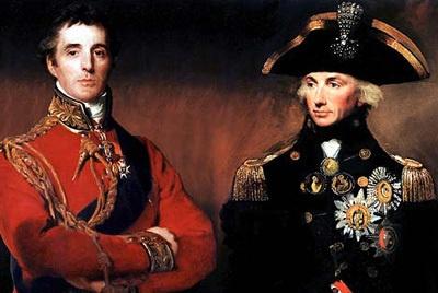 El Duque Wellington y el Almirante Horacio Nelson, derrotarían a Napoleón por tierra y mar #Historia