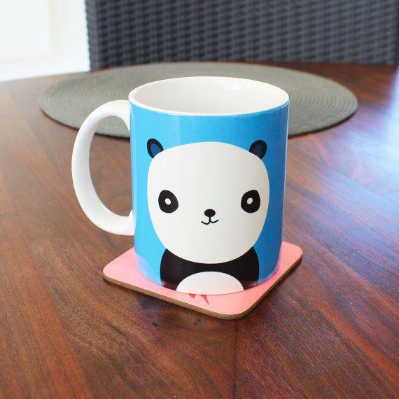 Cute Pastel Blue Panda mug funny mug 4M051G by Memeskins on Etsy