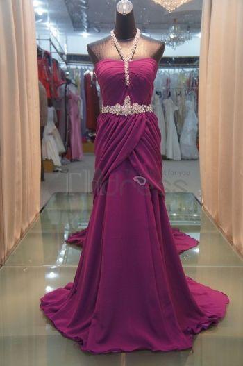Abiti da Sera Eleganti-nuovi abiti da sera eleganti sexy tee rughe viola