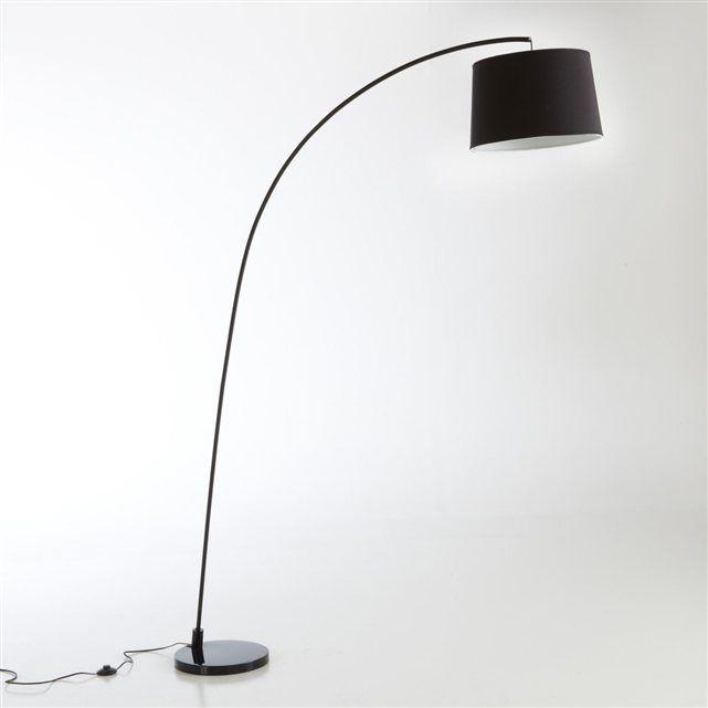 lampadaire design style arco pied blanc