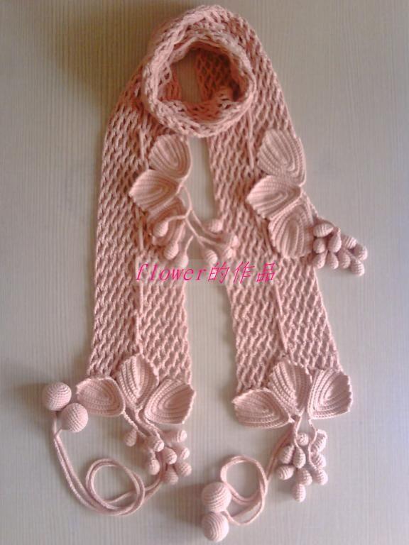 Te enseñó las Bufandas de ganchillo Mas de moda de la version Coreana de las uvas